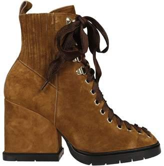 Santoni Chunky Heel Laced-up Boots