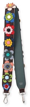 Fendi Strap You Floral Shoulder Strap for Handbag, Brown/Multi $1,100 thestylecure.com