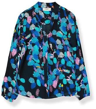 Pyrus - Jamie Forest Life Shirt - Large - Blue/Black/Pink