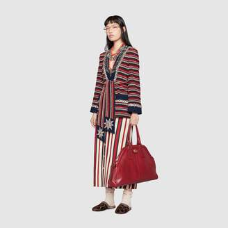 Gucci Striped denim long skirt