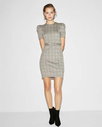 Express Puff Shoulder Sheath Dress