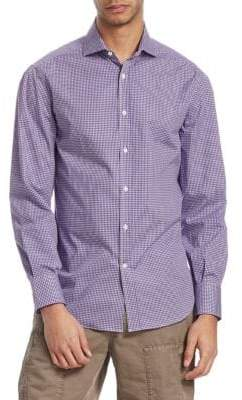 Brunello Cucinelli Gingham Plaid-Print Shirt