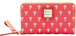 Dooney & Bourke MLB Phillies Zip Around PhoneWristlet