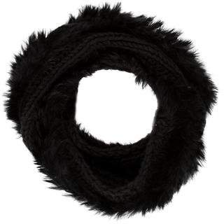 Calypso Knit Fur-Trimmed Snood