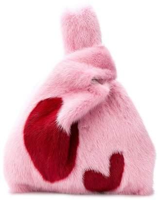 Simonetta Ravizza Furrissima heart tote bag