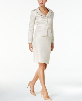 Tahari ASL Beaded Jacquard Skirt Suit $320 thestylecure.com