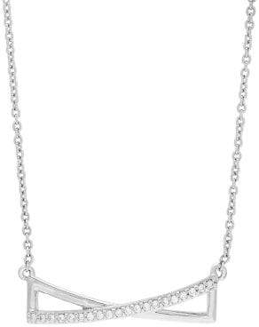 Lord & Taylor Diamond and Sterling Silver Pendant Necklace