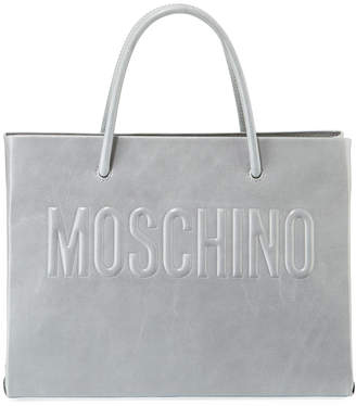 Moschino Metallic Leather Tote Bag