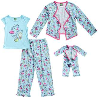 "Dollie & Me Girls 4-14 Slumber Party"" Jacket, Top & Bottoms Pajama Set"