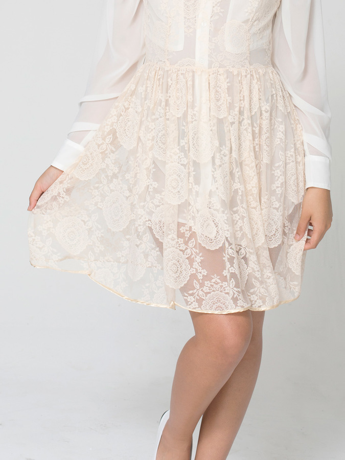 American Apparel China Lace Sleeveless Dress