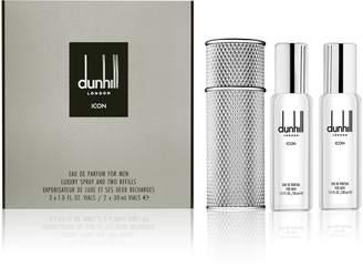 Mens Dunhill Icon Travel Spray Set Eau De Parfum 2x30ml