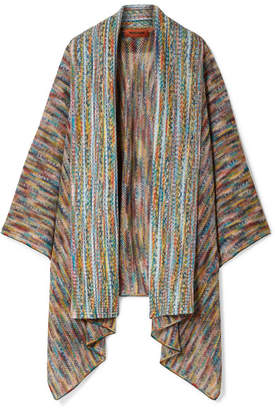 Missoni Crochet-knit Wool-blend Wrap - Blue