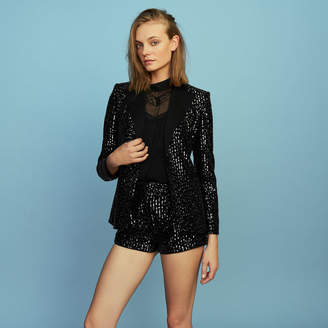 Maje Tuxedo jacket with sequins