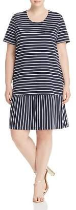 Junarose Plus Domias Striped Ruffle Dress