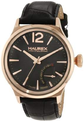 Haurex Italy Men's 6R341UGH Grand Class Rose-Gold PVD Case Day Indication Watch