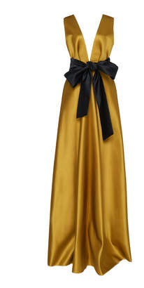 Dice Kayek Bow Belted Dress