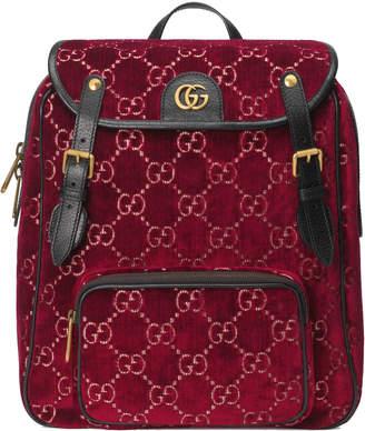 Gucci Backpack GG Velvet Small Red
