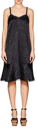 Koche Women's Bead-Embellished Crinkled Satin Slipdress