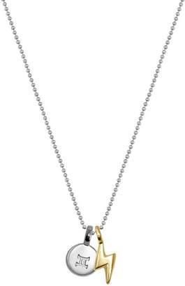 Alex Woo Sterling Silver & 14K Yellow Gold Mini Gemini Pendant Necklace