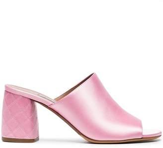Tabitha Simmons Pink Thelma 75 Silk Mules