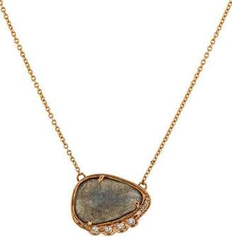 Jacquie Aiche 14K Labradorite & Diamond Pendant Necklace