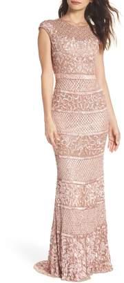 Mac Duggal High Neck Sequin Gown