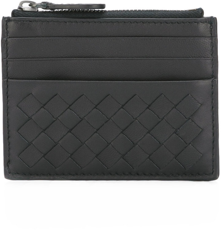 Bottega VenetaBottega Veneta woven zipped wallet