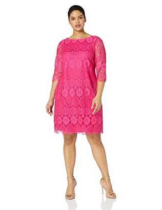 72a7d39538e Jessica Howard Plus Size Womens 3 4 Sleeve Shift Dress
