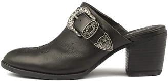 Django & Juliette Boatsie Black Shoes Womens Shoes Heeled Shoes
