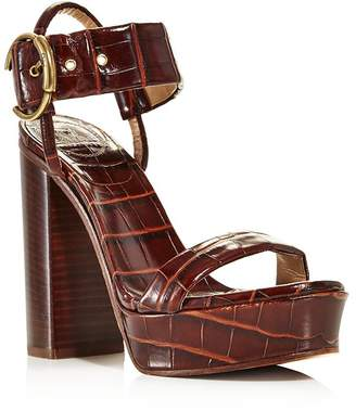 1a0cb1ec9860 Chloé Women s Roy Croc-Embossed Leather High-Heel Platform Sandals