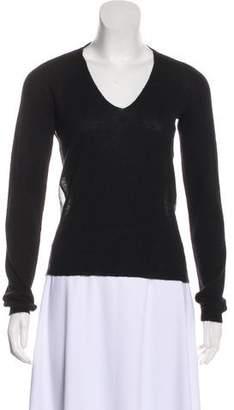 Lanvin Sheer-Paneled Knit Sweater