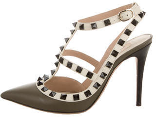 Valentino Leather Rockstud Pumps $625 thestylecure.com