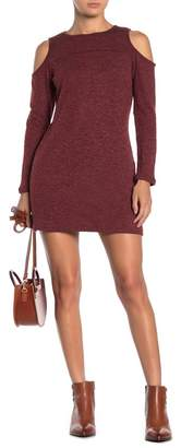 Papillon Cold Shoulder Long Sleeve Sweater Dress