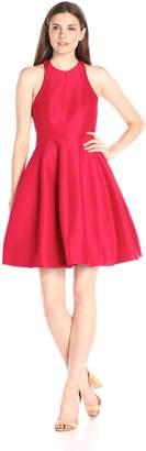 Halston Women's Sleeveless High Neck Structured Dress