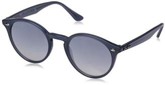 Ray-Ban INJECTED MAN SUNGLASS - Frame CLEAR GRAD BLUE MIRROR SILVER Lenses 51mm Non-Polarized