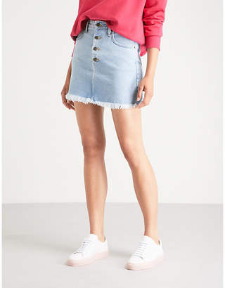 GUESS USA High-rise denim mini skirt