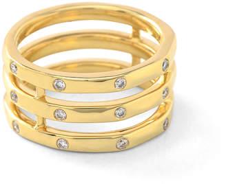 Ippolita 18k Glamazon® Stardust Triple-Band Diamond Ring, Size 7