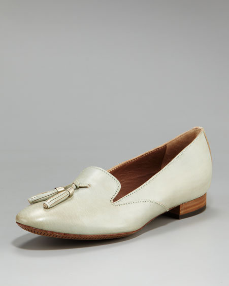 Alberto Fermani Tasseled Leather Loafer