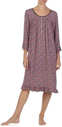 Eileen West Print Waltz Nightgown