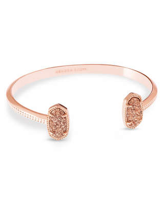 Kendra Scott Elton Pinch Cuff Bracelet in Rose Gold