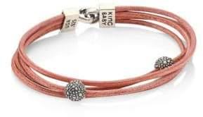 King Baby Studio Multi-Strand Leather & Sterling Silver Bracelet