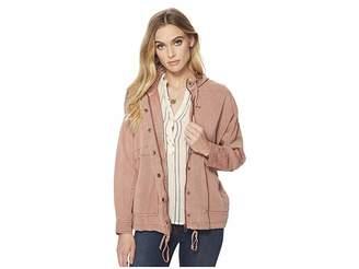 Lucky Brand Blush Hooded Jacket Women's Coat