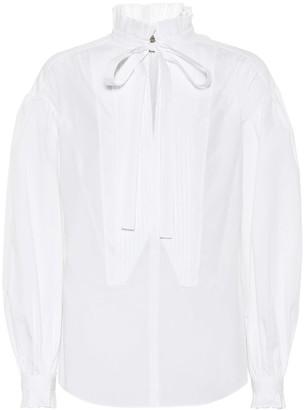 Burberry Tie-neck cotton blouse