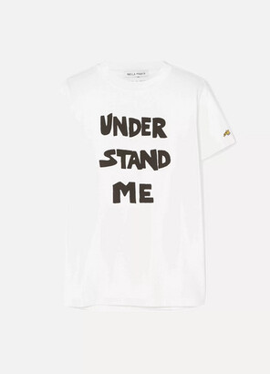 Bella Freud Understand Me Printed Cotton-jersey T-shirt - White