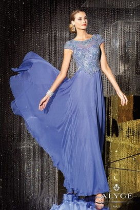 Alyce Paris Mother of the Bride - 29655 Dress in Blue Iris $498 thestylecure.com