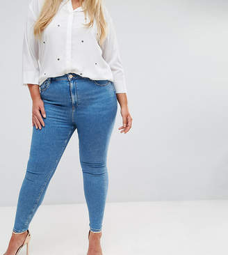 Asos DESIGN Curve Ridley high waist skinny jeans in light wash