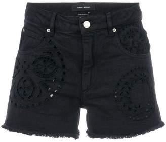 d016fd13d5 Isabel Marant denim broderie anglaise shorts