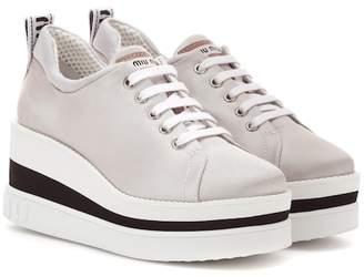 406ab907920 Miu Miu Platform Sneakers - ShopStyle