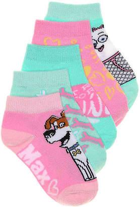 Universal Studios The Secret LIfe Of Pets Kids Socks - 5 Pack - Girl's