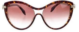 Alexander McQueen Cat-Eye Skull Sunglasses